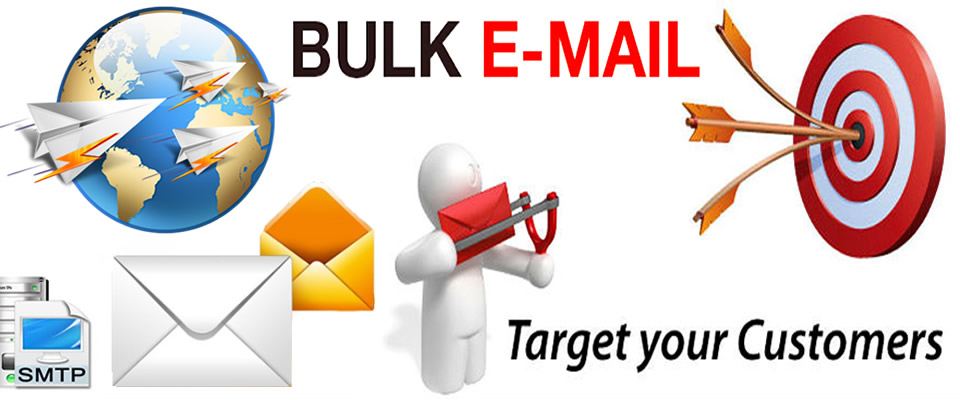Bulk Email Service Provider India - Service Availability - All India and World - Meena Infotech