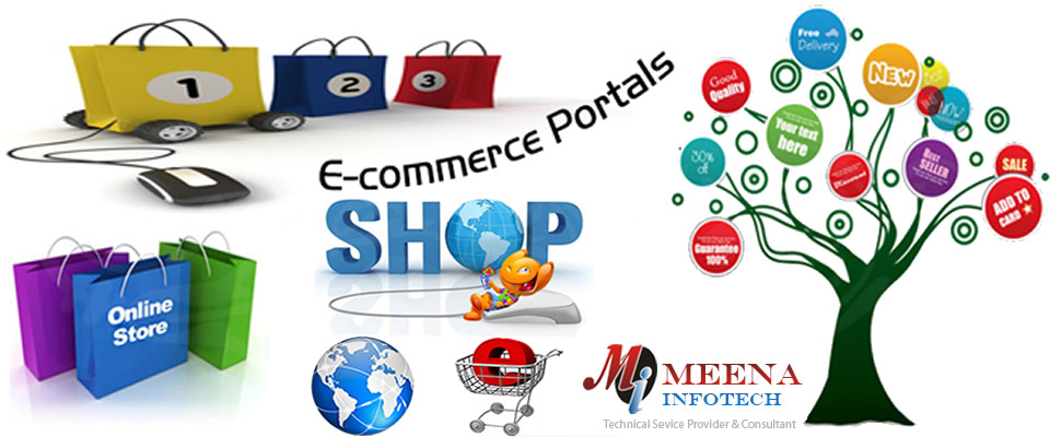 E-Commerce Portal Development India - Online Store Development India - Meena Infotech