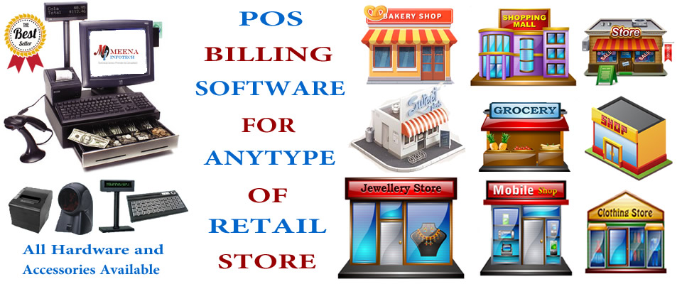 POS BILLING SOFTWARE FOR ANY TYPE OF RETAIL STORE IN INDIA - MEENA INFOTECH