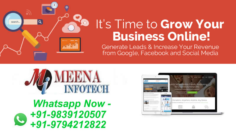 Its time to grow your business online generate leads call now 09839120507 09235533953 to make your website logo brochure flyer poster